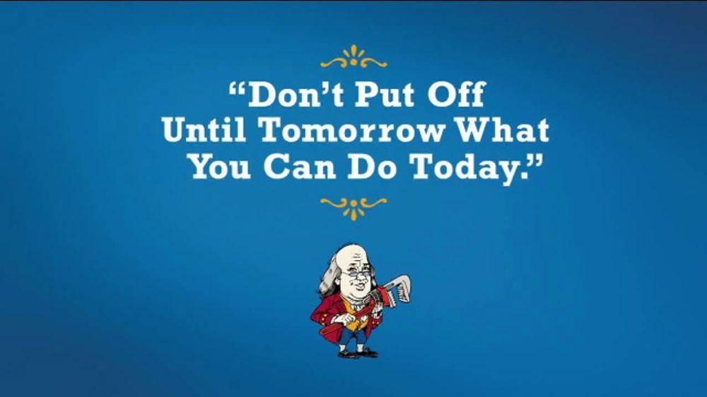 Benjamin Franklin Plumbing TV Commercial, 'Tomorrow'
