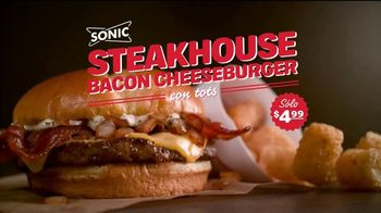 Sonic Drive-In Steakhouse Bacon Cheeseburger TV Spot, 'Queso fundido' [Spanish] - Thumbnail 8