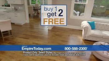 Empire Today Buy One Get Two Free Sale TV Spot, 'Carpet, Hardwood or Laminate' - Thumbnail 3