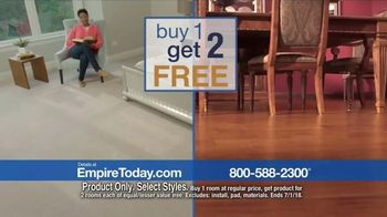 Empire Today Buy One Get Two Free Sale TV Spot, 'Carpet, Hardwood or Laminate' - Thumbnail 4