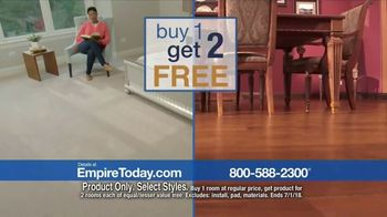 Empire Today Buy One Get Two Free Sale TV Spot, 'Carpet, Hardwood or Laminate' - Thumbnail 5