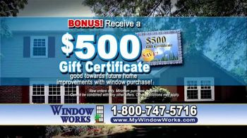 Window Works Window Blowout Sale TV Spot, 'Replace Old Windows' - Thumbnail 8