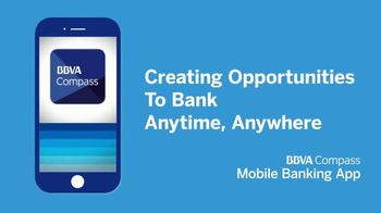 BBVA Compass Mobile Banking App TV Spot, 'Anytime, Anywhere' - Thumbnail 7