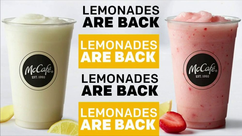 McDonald's McCafe Frozen Lemonades TV Commercial, 'Time to Chill'