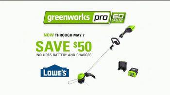 GreenWorks Pro 60-Volt String Trimmer TV Spot, 'Possible' - Thumbnail 8