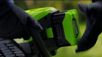 GreenWorks Pro 60-Volt String Trimmer TV Spot, 'Possible' - Thumbnail 5