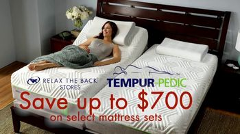 Relax the Back Mattress and More Sale TV Spot, ' Save On Tempur-Pedic'