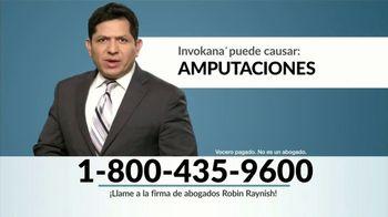 Robin Raynish Law TV Spot, 'Amputaciones causadas por Invokana' [Spanish]