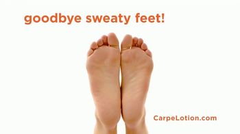 Carpe Antiperspirant Lotion TV Spot, 'Sweaty Hands and Feet' - Thumbnail 7