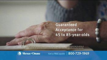 Mutual of Omaha Guaranteed Whole Life Insurance Policy TV Spot, 'Final Expenses' - Thumbnail 8