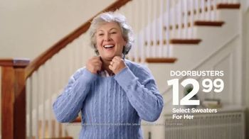 JCPenney Super Saturday Sale TV Spot, 'Sweaters and Denim' Song by Redbone - Thumbnail 5