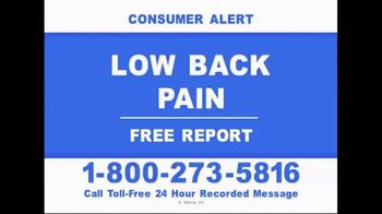 Consumer Education Hotline TV Spot, 'Low Back Pain'