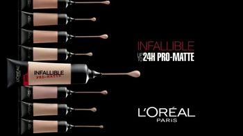 L'Oreal Paris Infallible Pro-Matte Foundation TV Spot, 'Hot Topic' - Thumbnail 1