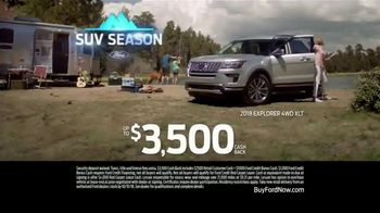 Ford SUV Season TV Spot, 'Trout' [T2] - 3 commercial airings
