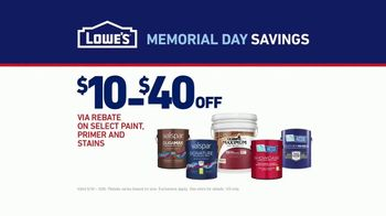 Lowe's Memorial Day Savings TV Spot, 'The Moment: Paint Guarantee' - Thumbnail 9