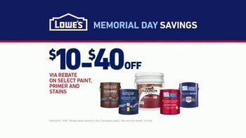 Lowe's Memorial Day Savings TV Spot, 'The Moment: Paint Guarantee' - Thumbnail 9