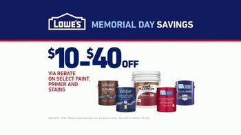 Lowe's Memorial Day Savings TV Spot, 'The Moment: Paint Guarantee' - Thumbnail 8