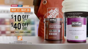 BEHR Premium Stain Memorial Day Savings TV Spot, 'Two Stains, Four Seasons' - Thumbnail 10