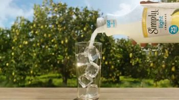 Simply Light Lemonade TV Spot, 'Surprisingly Refreshing, Way Less Sugar' - Thumbnail 1