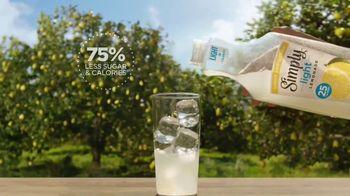 Simply Light Lemonade TV Spot, 'Surprisingly Refreshing, Way Less Sugar' - Thumbnail 4