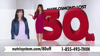 Nutrisystem Turbo 13 TV Spot, 'Weighing You Down: 80' Feat. Marie Osmond - Thumbnail 5