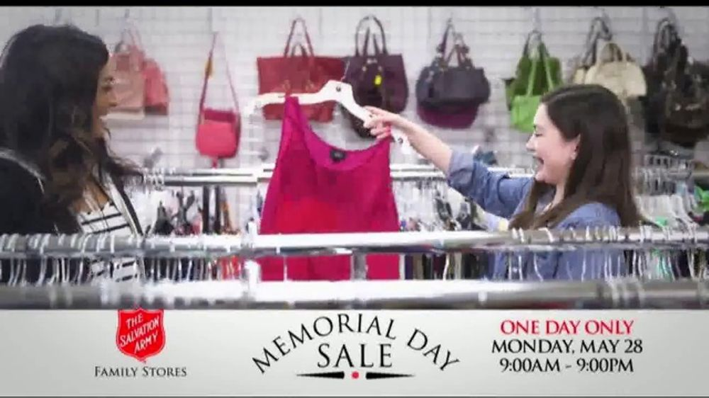 The Salvation Army Memorial Day Sale TV Commercial, 'One Day Only'