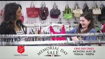 The Salvation Army Memorial Day Sale TV Spot, 'One Day Only' - Thumbnail 1