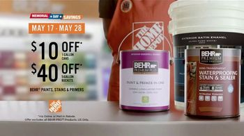 BEHR PREMIUM PLUS Paint Memorial Day Savings TV Spot, 'Overachiever' - Thumbnail 10