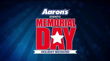 Aaron's Evento Memorial Day TV Spot, 'Comienza con $5 dólares' [Spanish]