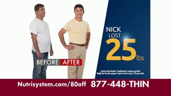 Nutrisystem for Men TV Spot, 'Put Down the Pie: Save $80'