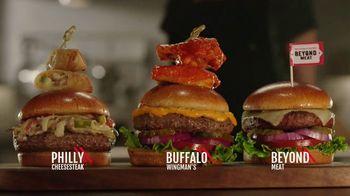 TGI Friday's Sky-High Burgers TV Spot, 'Rebuilt Burgers'