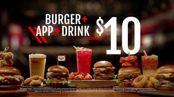 TGI Friday's Sky-High Burgers TV Spot, 'Rebuilt Burgers' - Thumbnail 7