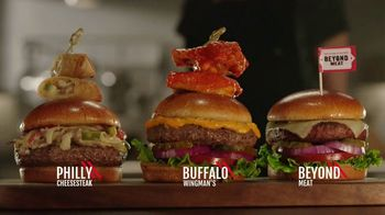 TGI Friday's Sky-High Burgers TV Spot, 'Rebuilt Burgers'