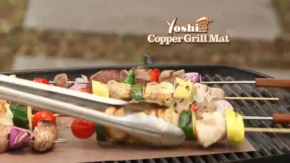 Yoshi Copper Grill Mat Tv Commercial Great Grilled Flavor Video