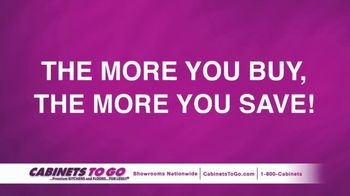 Cabinets To Go TV Spot, 'The More You Buy, The More You Save'