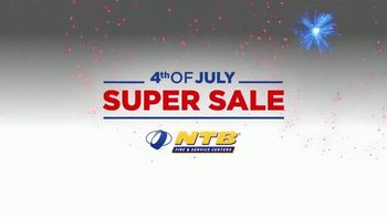 National Tire & Battery 4th of July Super Sale TV Spot, 'Buy 2, Get 2 Tires Free'