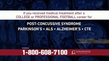 Goldwater Law Firm TV Spot, 'Attention: Football Players Who've Suffered Brain Injury or Concussion' - Thumbnail 1