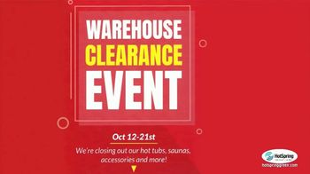 HotSpring Warehouse Clearance Event TV Spot, 'Stay Warm This Winter' - Thumbnail 2