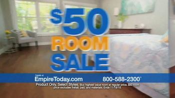 Empire Today $50 Room Sale TV Spot, 'Installation by Thanksgiving'