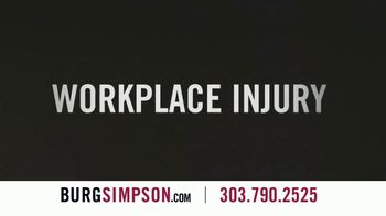 Burg Simpson TV Spot, 'Workplace Injury'