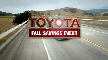 Toyota Fall Savings Event TV Spot, 'Don't Forget' [T2] - Thumbnail 2