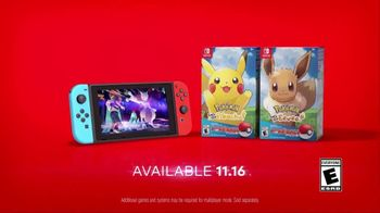 Nintendo Switch TV Spot, 'Pokémon: Let's Go, Pikachu! and Pokémon: Let's Go, Eevee' - Thumbnail 10
