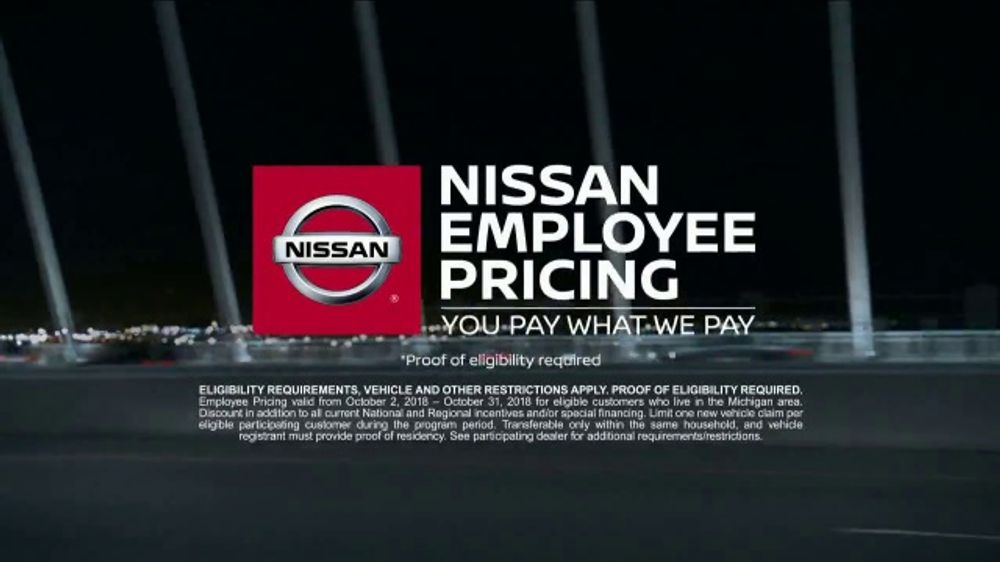 Nissan Employee Pricing TV Commercial, 'Advanced Tech' [T2] - Video