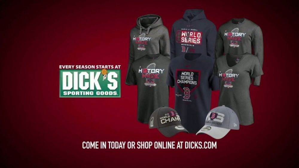 Dick's Sporting Goods TV Commercial, 'Red Sox World Series Champions Gear'
