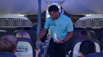 Alaska Airlines TV Spot, 'Drink Cart Quarterback' Featuring Russell Wilson - Thumbnail 2