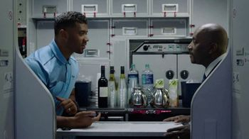 Alaska Airlines TV Spot, \'Drink Cart Quarterback\' Featuring Russell Wilson