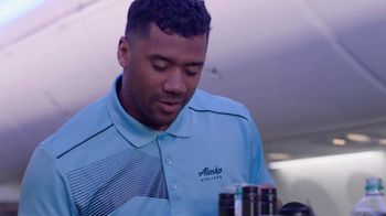 Alaska Airlines TV Spot, 'Drink Cart Quarterback' Featuring Russell Wilson - Thumbnail 8