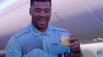 Alaska Airlines TV Spot, 'Drink Cart Quarterback' Featuring Russell Wilson - Thumbnail 9