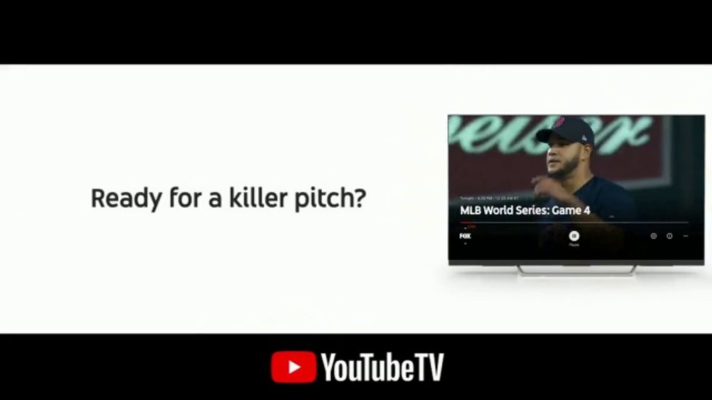 YouTube TV TV Commercial, '2018 World Series Game 4: Killer Pitch'