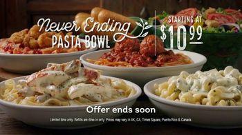 Olive Garden Never Ending Pasta Bowl TV Spot, 'It's Almost Over' - Thumbnail 9